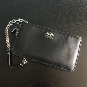 Coach Leather Chain Wristlet
